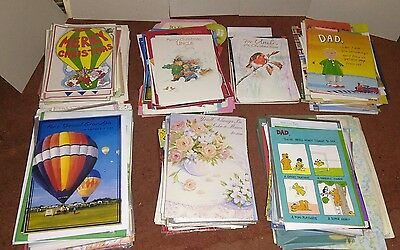 Job lot wholesale 275 mixed greeting cards Christmas Birthday Personalised
