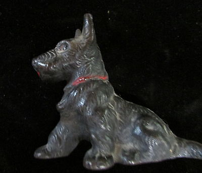 Vintage Solid Cast Iron German Shepard Puppy Figurine