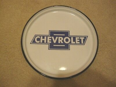 """Chevrolet 12"""" Porcelain Advertising Giveaway Tray"""