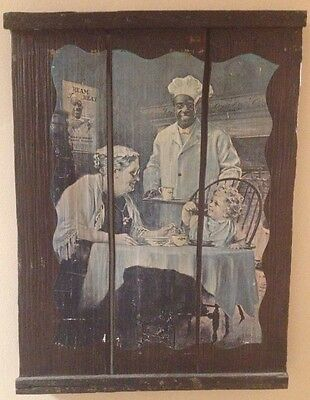 Cream Of Wheat Wooden Crate Advertising Sign Art