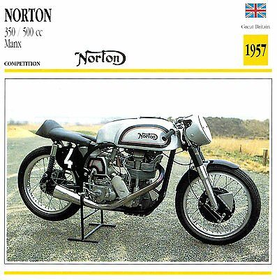 Moto Passion Motorcycle Card D2 000 02-02 Great Britain Norton 350 500 cc Manx 1