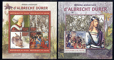 Niger - 2013 two MNH sheets of 4 11811206 Paintings by Durer Lot 37