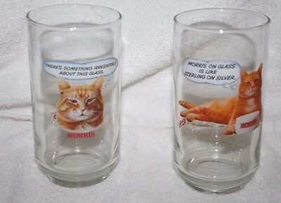 2-  Vintage Morris The Cat 9-Lives Something Irresistible Glass