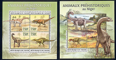 Niger - 2013 two MNH sheets of 4 11931218 Dinosaurs Lot 49