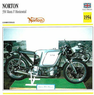 Moto Passion Motorcycle Card D2 000 10-12 Great Britain Norton 350 Manx F Horizo
