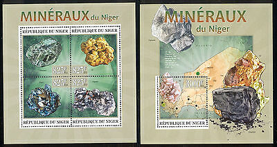 Niger - 2013 two MNH sheets of 4 11991224 Minerals of Niger Lot 55
