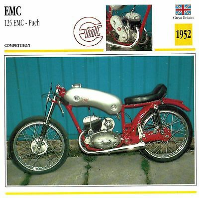 Moto Passion Motorcycle Card D2 000 17-02  Great Britain EMC 125 EMC Puch 1952
