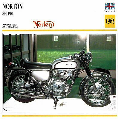 Moto Passion Motorcycle Card D2 000 18-05 Great Britain Norton 800 P10 1965
