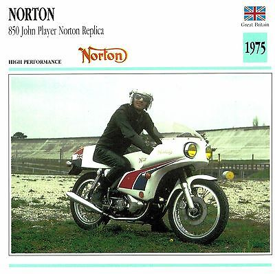 Moto Passion Motorcycle Card D2 000 25-16 Great Britain Norton 850 John Player N