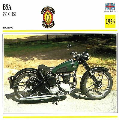 Moto Passion Motorcycle Card D2 000 26-04 Great Britain BSA 250 C11SL 1953