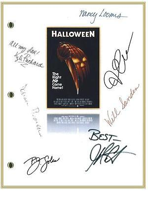 Halloween Movie Script Signed Rpt Donald Pleasence  Jamie Lee Curtis  P.j. Soles