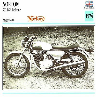 Moto Passion Motorcycle Card D2 000 31-19 Great Britain Norton 500 BSA Isolastic