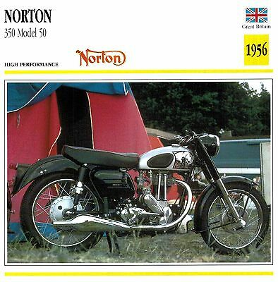 Moto Passion Motorcycle Card D2 000 36-10 Great Britain Norton 350 Model 50-1956