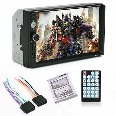 7'' HD Bluetooth Touch Screen Car Stereo Radio 2 DIN FM/MP5/MP3/USB/AUX Player