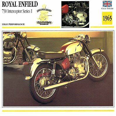 Moto Passion Motorcycle Card D2 000 40-01 Great Britain Royal Enfield 750 Interc