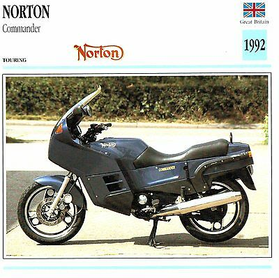 Moto Passion Motorcycle Card D2 000 41-16 Great Britain Norton Commander 1992
