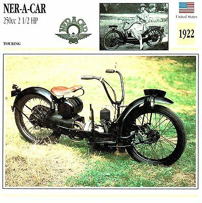 Moto Passion Motorcycle Card D2 000 41-19 USA Ner-A-Car 250cc 2 1/2 HP - 1922