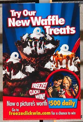 Dairy Queen Promotional Poster For Backlit Menu Sign Waffle Treats dq2