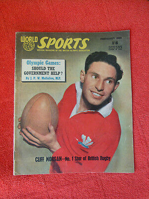 Vintage Worlds Sports Int. Sports Magazine. February 1956 - Cliff Morgan
