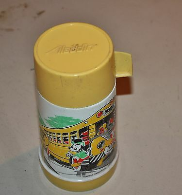 Vintage Aladdin Industries Mickey Mouse & Friends School Bus Stop Thermos