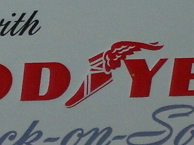 GOODYEAR --- HOT BABE -- LONG LEGS --- Pretty PIN-UP Girl - OId Sign - DATED '93
