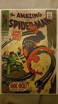 Amazing Spider-Man #53 Doctor Octopus! (Marvel Comics) 1966 Cents copy
