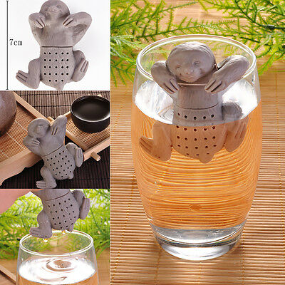 Creative Slow Brew Sloth Tea Infuser Heat Resistant Silicone BPA Free Safe