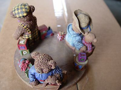 """""""all Aboard"""" Bear Hallmark Candle Holder, New By Lang Candles 5.5"""" Diameter"""