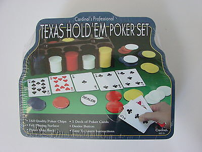 Cardinal's Professional Texas Hold'em Poker Set - New W/tin - Still Sealed