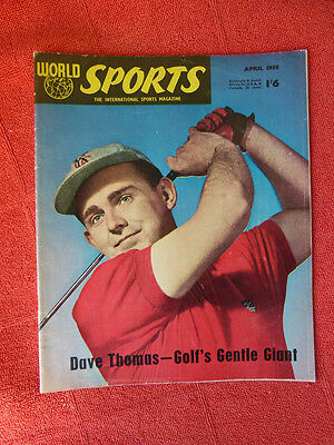 Vintage Worlds Sports Int. Sports Magazine. April 1958 - Dave Thomas