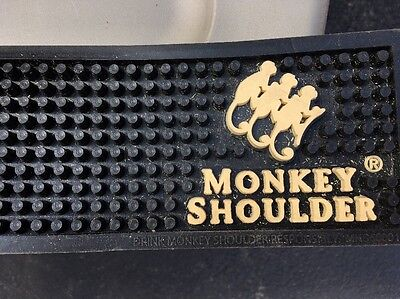 Monkey Shoulder Rubber Bar Mat. Approx 24 Inches Long.