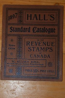 Weeda Literature: 1897 Hall's Standard Catalogue of Revenue Stamps of Canada