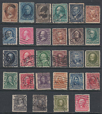 United States USA 1870-1903 Used Selection of 28 Different Classic Stamps