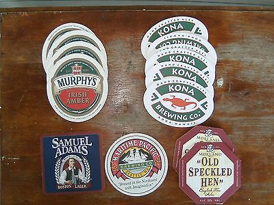 Lot of14 Collectible Beer Coasters Misc. Bar Advertising Man Cave Decor Brewery
