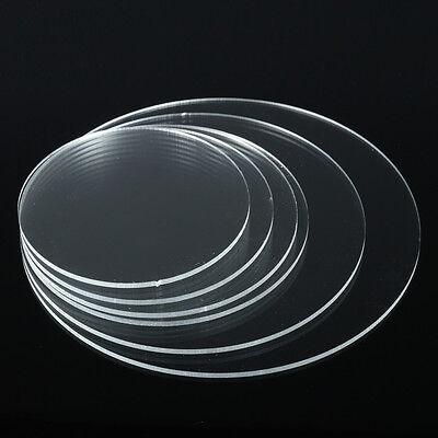 3mm Circular Acrylic Discs Plastic Mirror Extruded or Cast Sizes 100mm to 350mm