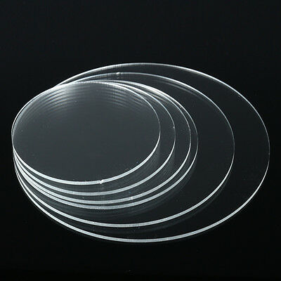 3mm Circular Acrylic/Perspex Discs Plastic Mirror Extruded or Cast 100mm — 350mm