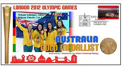 Australia 2012 London Olympic Swimming Relay Gold Cov 1