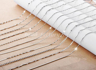 """Wholesale Fashion Women Silver Plated Chain Simple Necklace Gift Jewelry 16""""/18"""""""