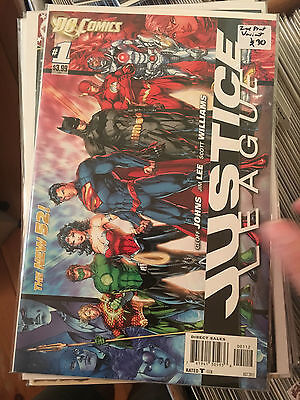 JUSTICE LEAGUE #1 NM 2nd Print JIM LEE VARIANT New 52 Geoff Johns Batman Flash