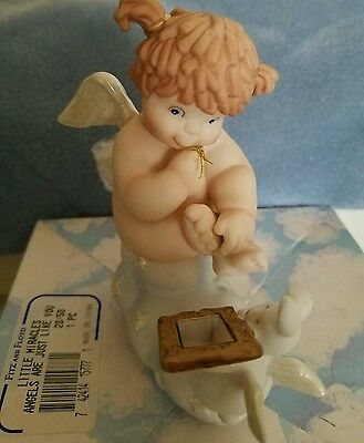 """BNIB FITZ & FLOYD Little Miracles """"Angels Are Just Like You"""" Figurine Rabbit"""