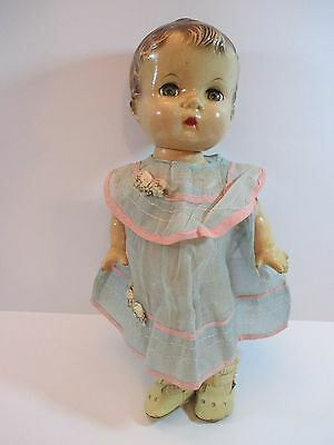 "14"" vintage antique composition Effanbee ( For Repair ) child Doll Sleep Eyes"