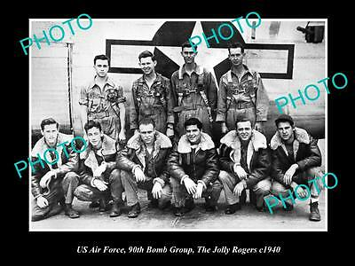 OLD LARGE HISTORICAL PHOTO OF US AIR FORCE 90th BOMB GROUP, JOLLY ROGERS 1940 2