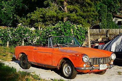 1964 Fiat 1500 Cabriolet 118H Cabriolet 1964 FIAT 1500 CABRIOLET 118H - RUNS! 95% Complete!