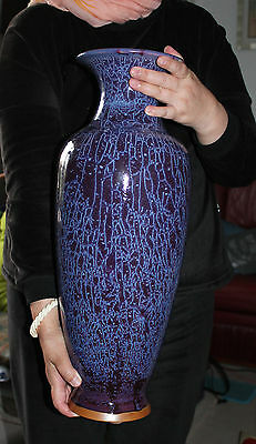 An Unique 51.3 cm Chinese Heritage Reproduction Sung Dynasty Jun Yao Vase
