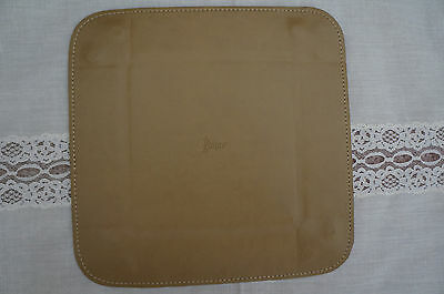 Royce Leather Travel Valet Tray Tan Color