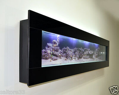 Fishtank Modern New Black Glass Wall Aquarium 6 Ft Fish Tank