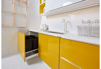 Ikea Jarsta Yellow Cabinet Doors/Drawer Faces -Ikea Sektion Kitchen- Maximera
