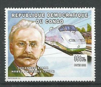 Johannes Stark, Nobel Physics, Railways, Train, Congo MNH - B25