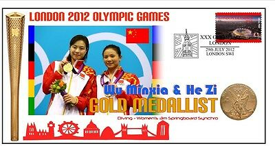 China 2012 Olympic Synchro Diving Gold Medal Cover