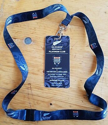 New Zealand All Blacks v British & Irish Lions 1st Test Match Auckland LANYARD